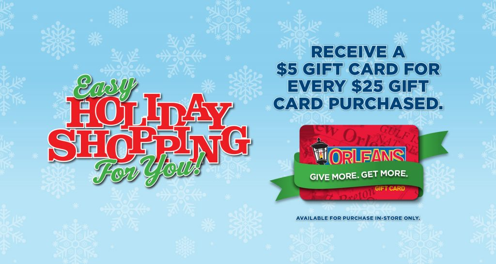 Easy Holiday Shopping For You - Orleans Seafood Kitchen