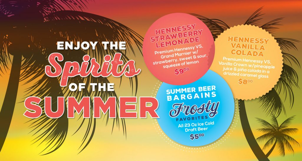 Enjoy the Spirit of Summer - Summer Drink Specials at Orleans Seafood Kitchen