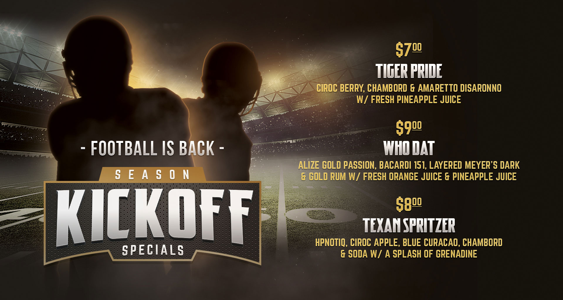 Football is Back - Season Kickoff Specials at OSK