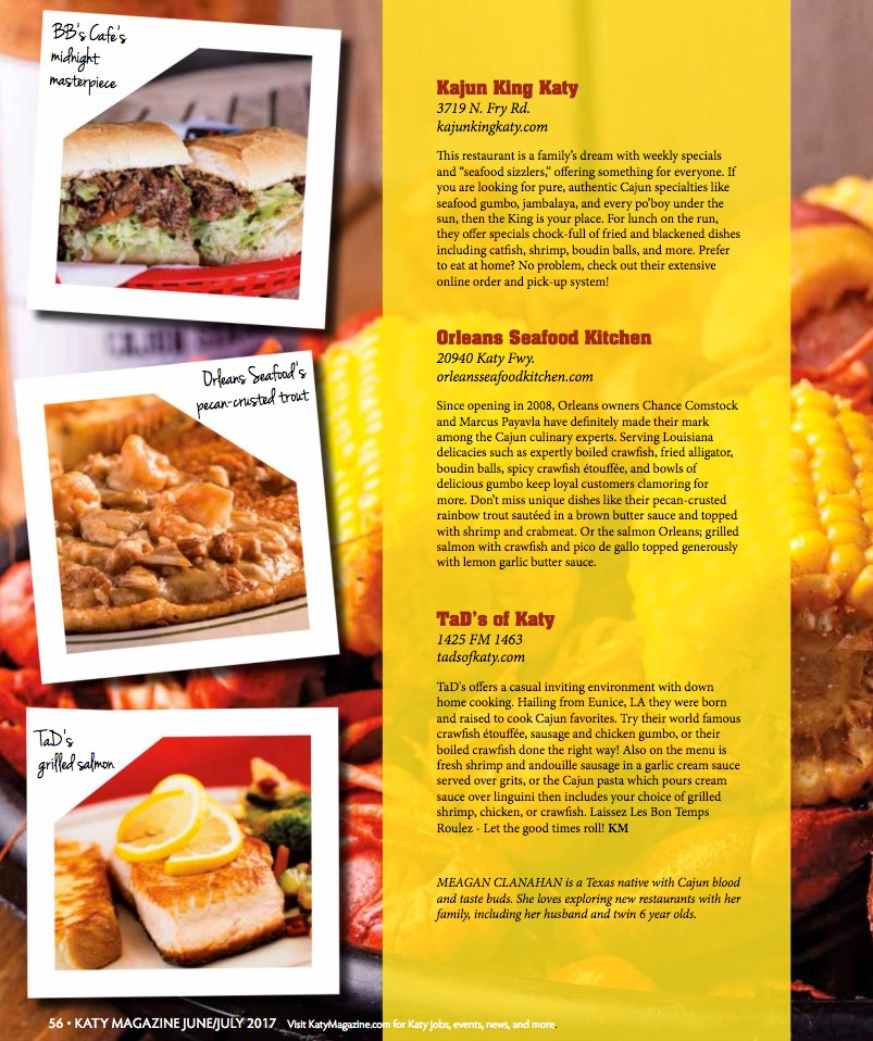 OSK in Katy Foodie Magazine