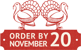 Order turkey by November 20