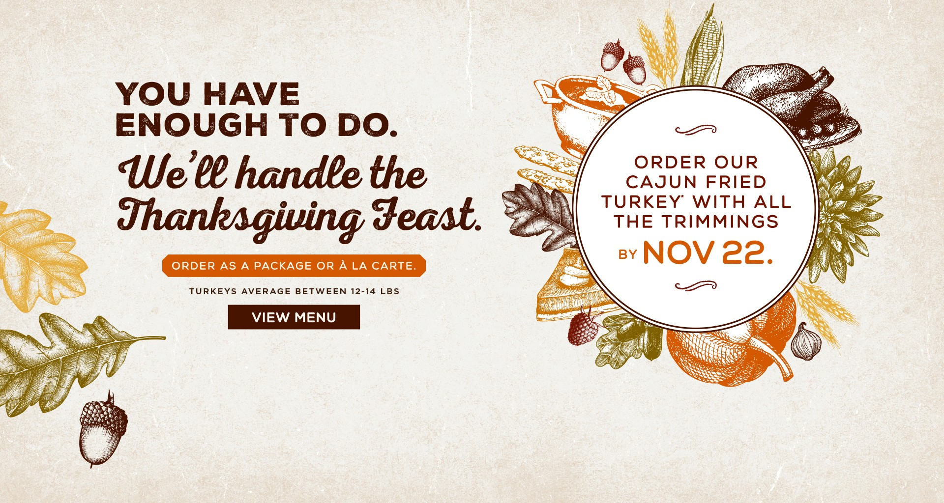 Celebrate Thanksgiving with our Thanksgiving Feast!