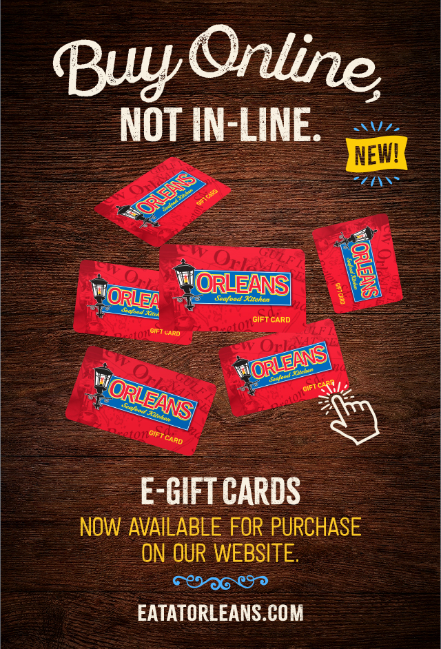 New Orleans Seafood E-Gift Cards